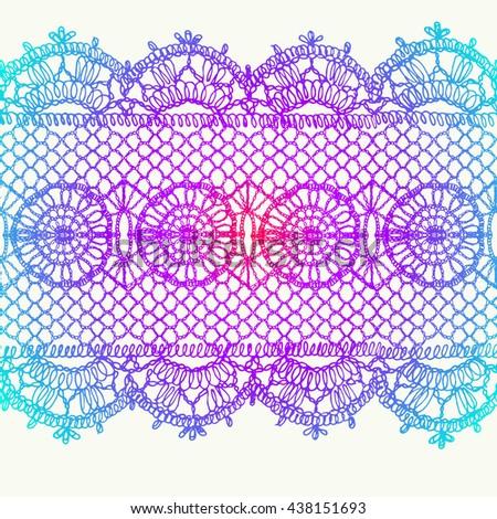 floral mosaic tiles horizontal seamless pattern royalty dog