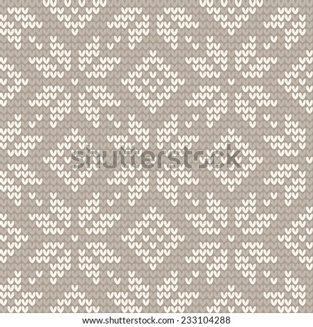 Knitted seamless pattern - stock vector