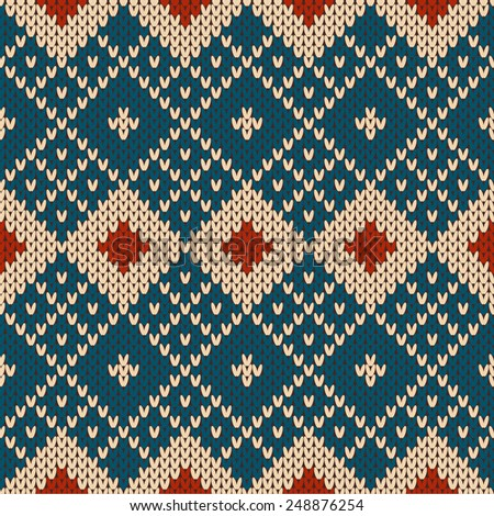 Knitted seamless pattern. - stock vector