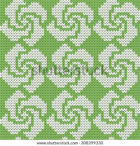 knitted seamless pattern curls - stock vector