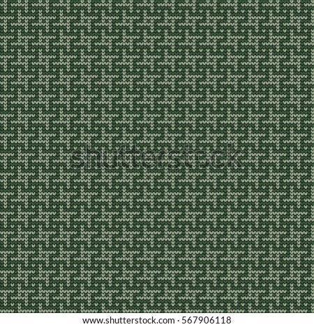 Knitted seamless patterns crow's feet