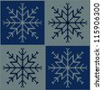Knitted snowflake. Seamless background. - stock