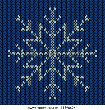 Knitted Snowflake Patterns : Stock Images similar to ID 116664406 - abstract knitted pattern....