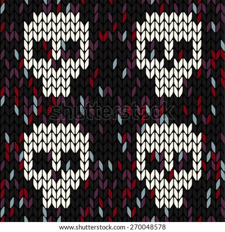 Knitted texture - stock vector