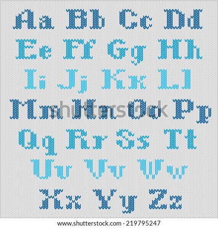 Knitted Alphabet Stock Images, Royalty-Free Images & Vectors ...