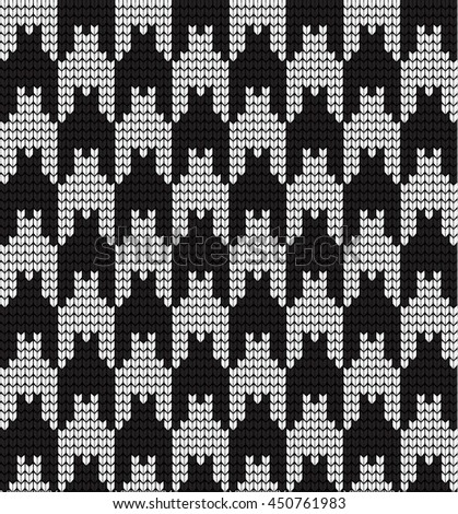 knitted vector seamless pattern hounds-tooth