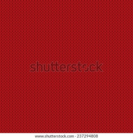 Knitted Wool Texture. Seamless Background - stock vector