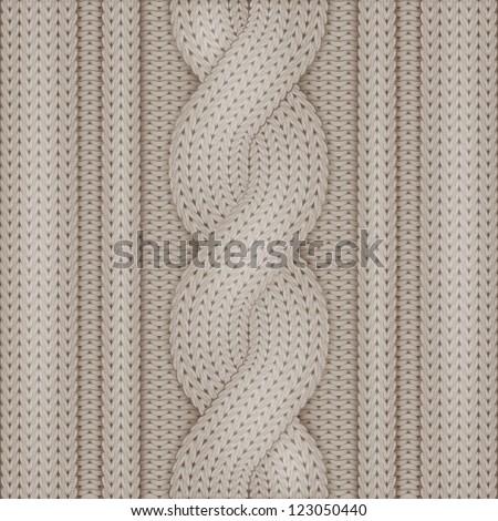Knitted woolen texture - stock vector