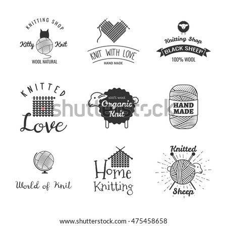 Knit stock images royalty free images vectors for Hand knit labels