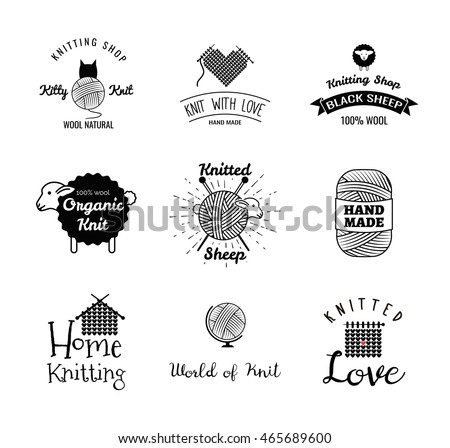 Ball of string stock photos royalty free images vectors for Hand knit with love labels