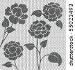 knitting pattern - stock vector
