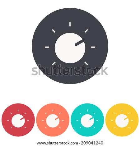 knob icon , volume music control , vector illustration - stock vector