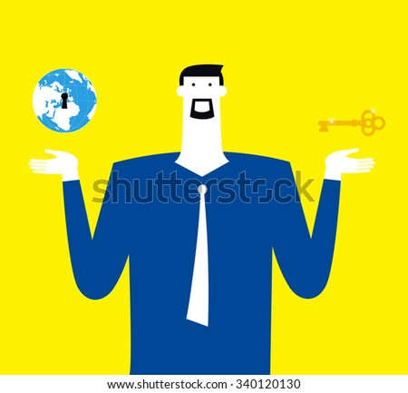 Know how and market are important both. - stock vector
