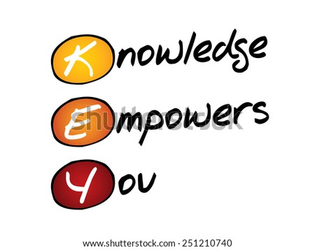 Knowledge Empowers You (KEY), business concept acronym - stock vector