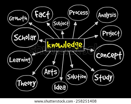 Knowledge mind map, business concept - stock vector