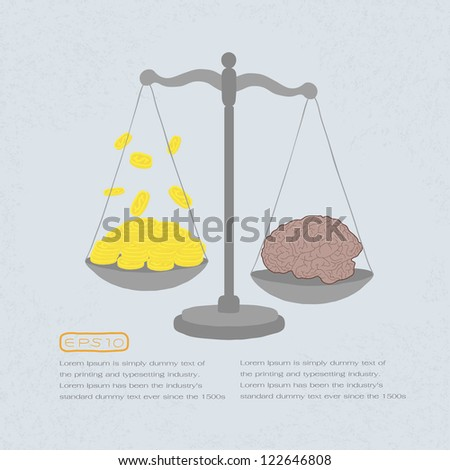 knowledge value in gold coins , eps 10 vector format - stock vector