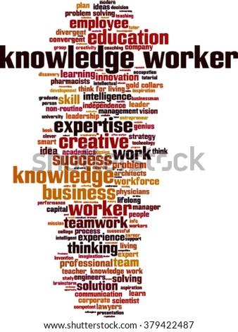 Knowledge worker word cloud concept. Vector illustration