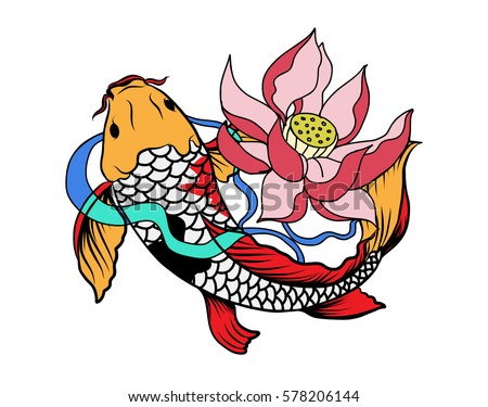Koi fish tattoo ,japanese style