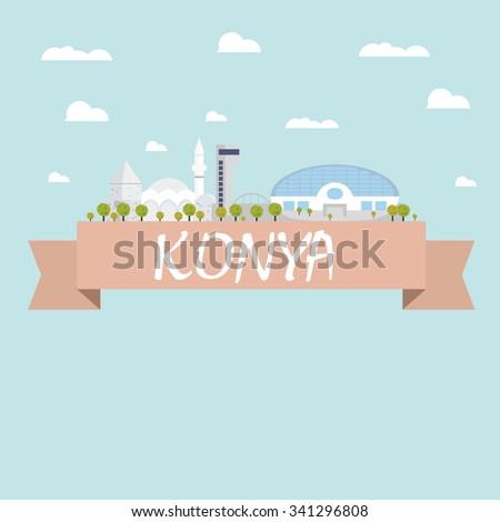 Konya city vector - stock vector