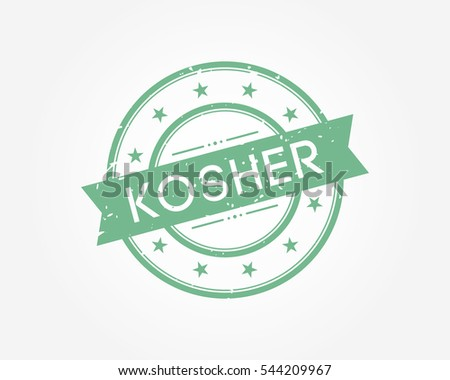 kosher. green stamp sign vector illustration