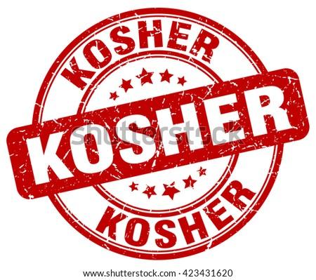 kosher red grunge round vintage rubber stamp.kosher stamp.kosher round stamp.kosher grunge stamp.kosher.kosher vintage stamp. - stock vector