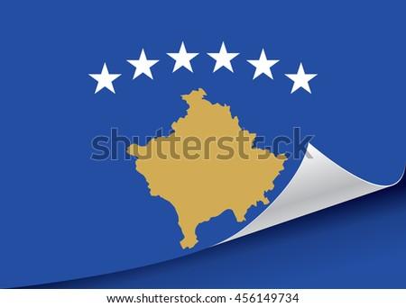 Kosovo flag vector illustration. - stock vector