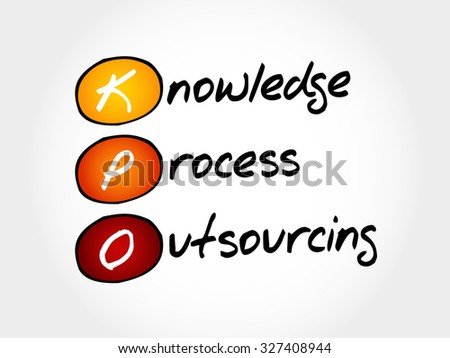 KPO - Knowledge Process Outsourcing, acronym business concept
