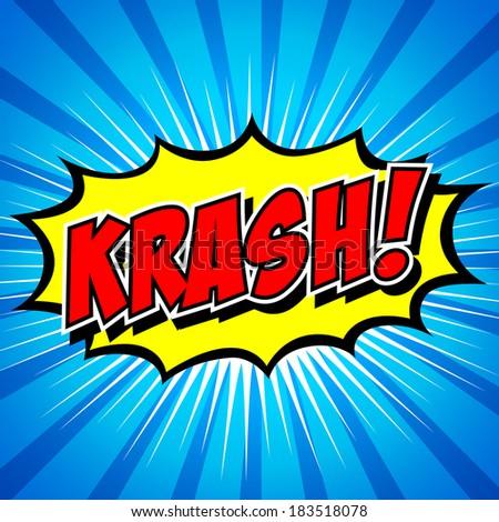 krash! - Comic Speech Bubble, Cartoon.  - stock vector