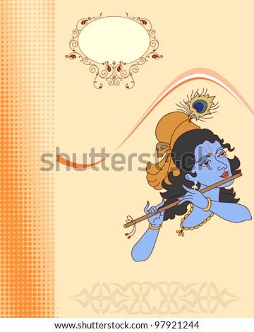 Krishna - stock vector