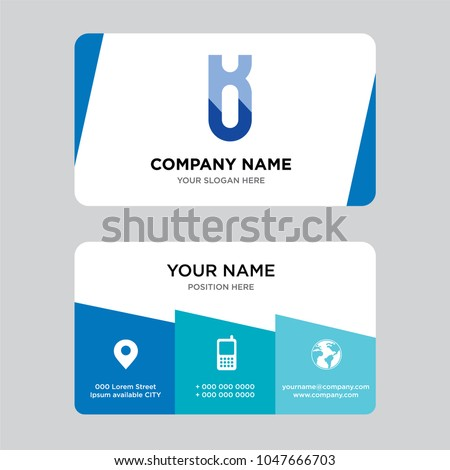 Ku uk business card design template stock vector royalty free ku or uk business card design template visiting for your company modern creative and cheaphphosting Choice Image