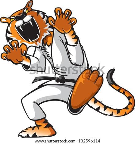 Kung Fu Kat - stock vector