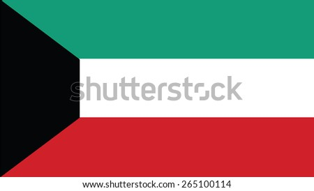 kuwait Flag for Independence Day and infographic Vector illustration. - stock vector