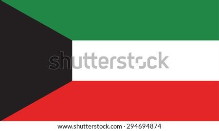 Kuwait national flag. Vector EPS8 - stock vector