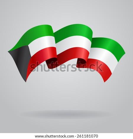 Kuwait waving Flag. Vector illustration Eps 8. - stock vector