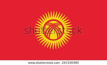Kyrgyzstan Flag for Independence Day and infographic Vector illustration. - stock vector