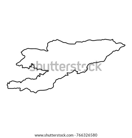 Cyprus Northern Cyprus Outline Map Detailed Stock Vector - Cyprus blank map