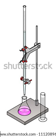lab titration with an indicator