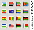 Label - African Flags - stock photo
