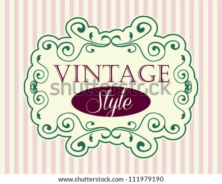 Label, antique and baroque frames - stock vector