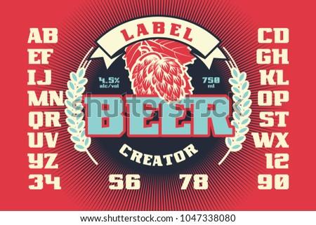 Label Beer Creator Vintage Frame Design Vector de stock1047338080 ...