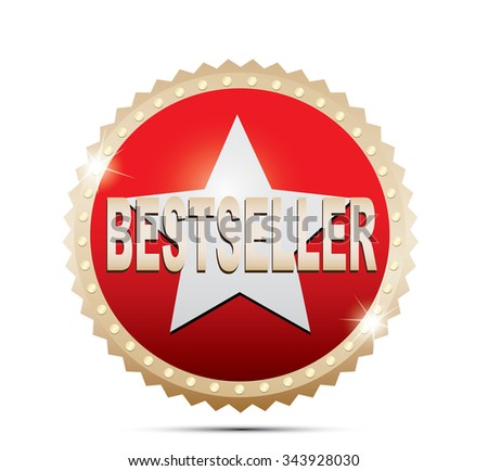 Label bestseller - stock vector