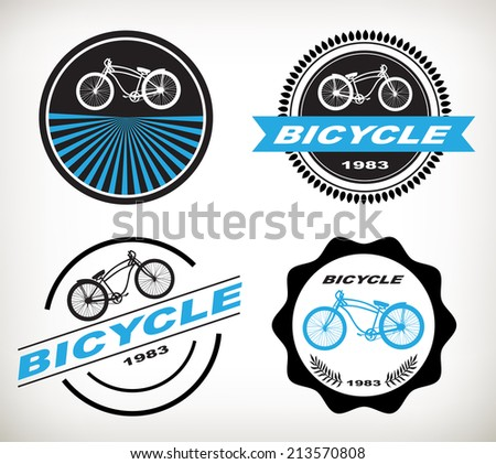 label bicycle vector - stock vector