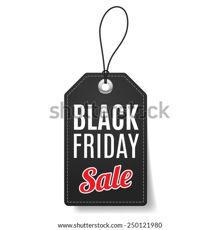 Label Black Friday discounts, increasing consumer growth. - stock vector