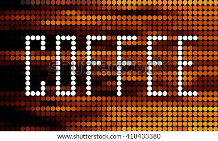 Label coffee . Coffee shop. Coffee sign. - stock vector