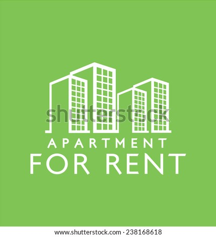 Label design for : Rent Apartment - stock vector