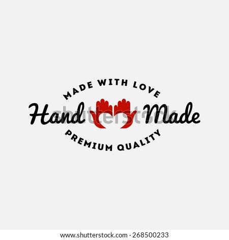 hand made logo stock images royalty free images vectors shutterstock. Black Bedroom Furniture Sets. Home Design Ideas