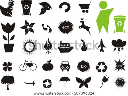 Label - Ecological Icons - stock vector