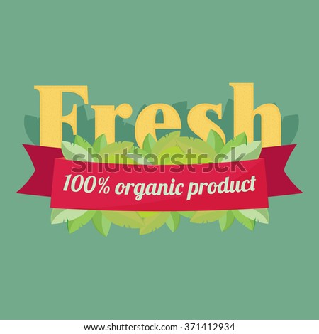 Label elements for organic food and drink. Organic, bio, natural, eco, logo vector - stock vector