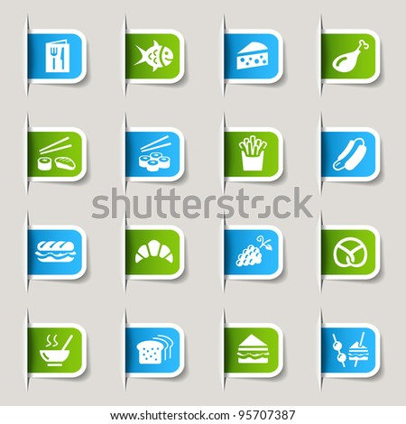 Label - Food Icons - stock vector