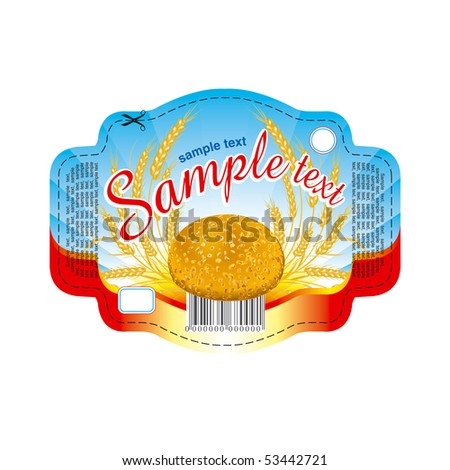 Label for bread - stock vector